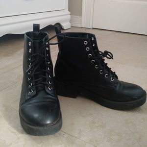 H&M Lace up combat boots